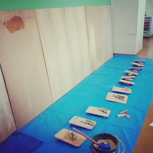 木育用 塗り壁体験セット増設しました(^^)