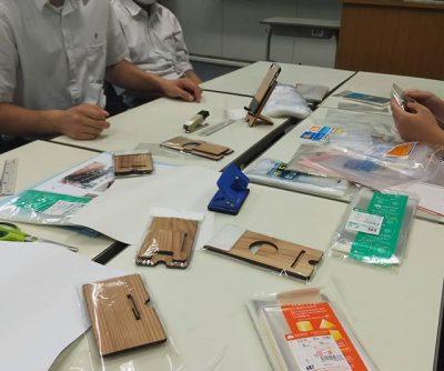 那賀高校森林クリエイト科と「とくしま杉」の木育製品開発!