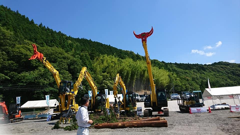林業機械展2018@徳島 林業機械も「木づかい」に向けて進化中!